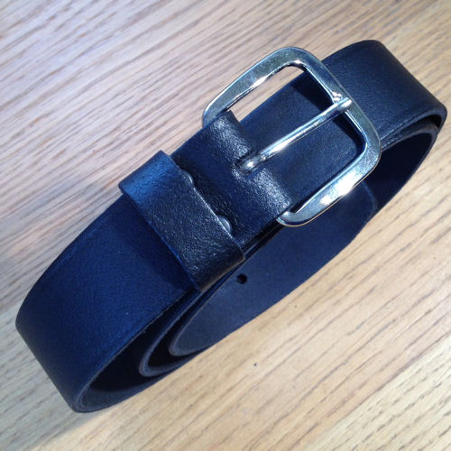 "PWL 809 1 & 1/4"" (3.1cm) Black Leather Duty Belt"