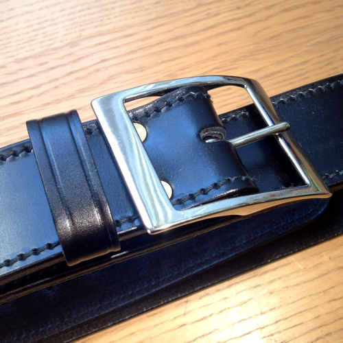 "PWL 819 2"" Suede Lined Black Leather Belt, NP Buckle"