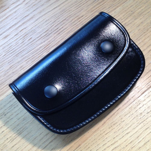 PWL 9110 Black Leather Belt Pouch