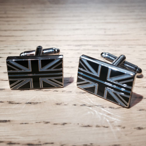 Thin Blue Line Enamelled Union Flag Cufflinks TBL02