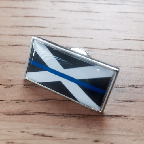 Thin Blue Line Scottish Scotland Flag Police Pin Badge EL TBL07S Blue