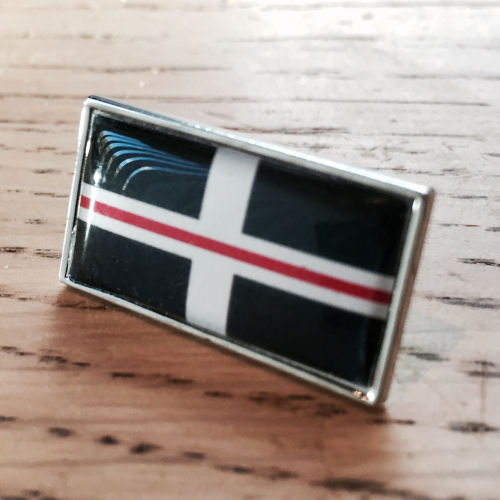 Thin Red Line Cornwall Cornish Flag Firefighter Pin Badge EL TBL07C Red